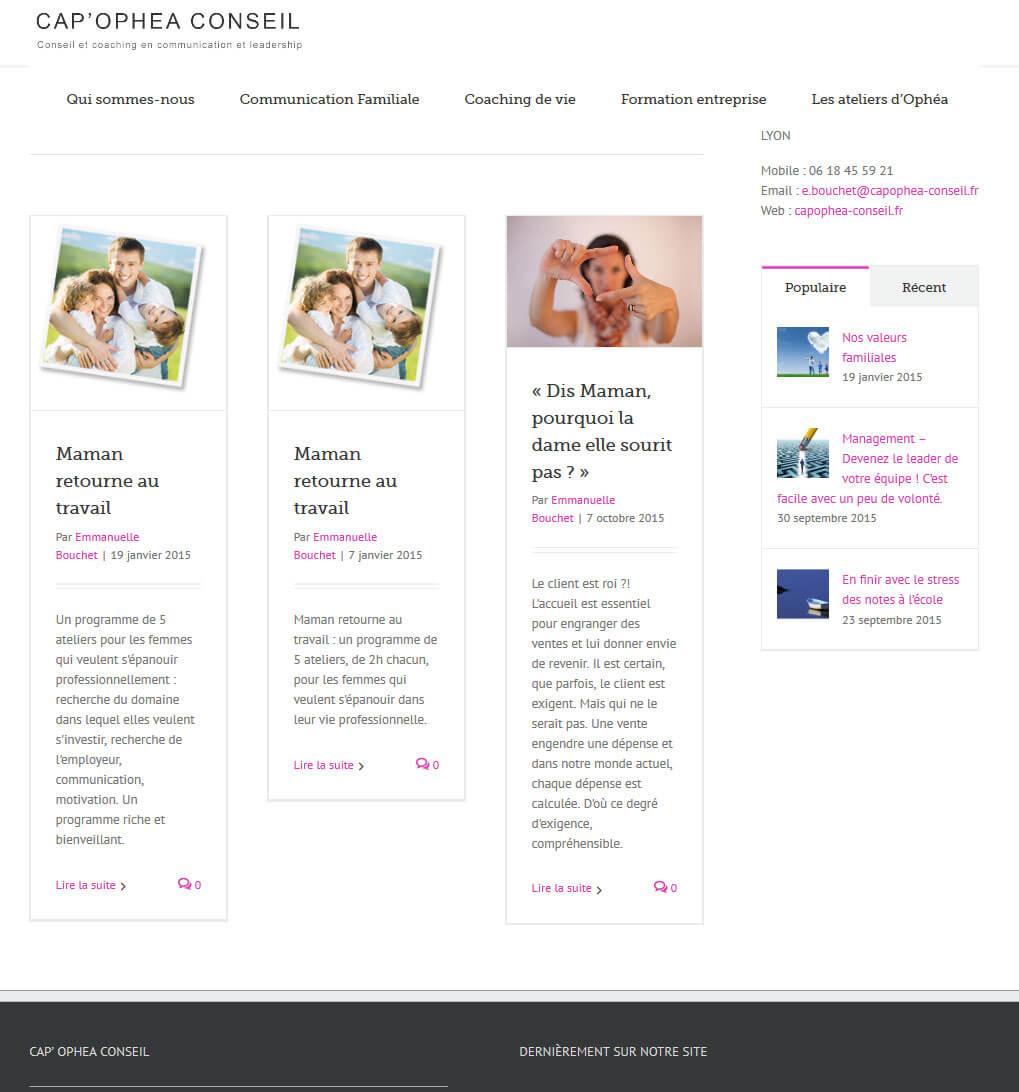 Création site internet LYON blog coaching de vie coach LYON