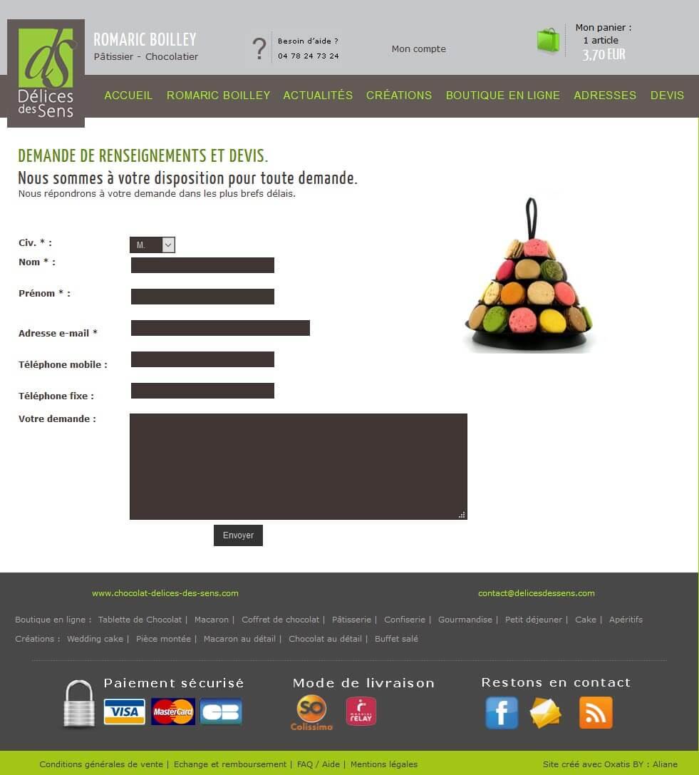 Création site e commerce vente en ligne Lyon