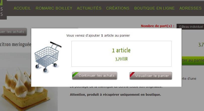 Création site e commerce Lyon Pâtisserie