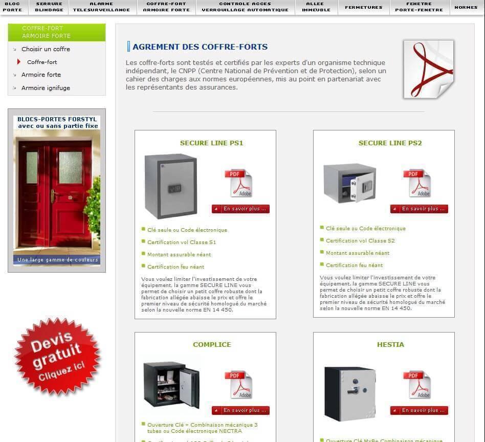 Création site internet LYON site vitrine métallerie ducrest 2