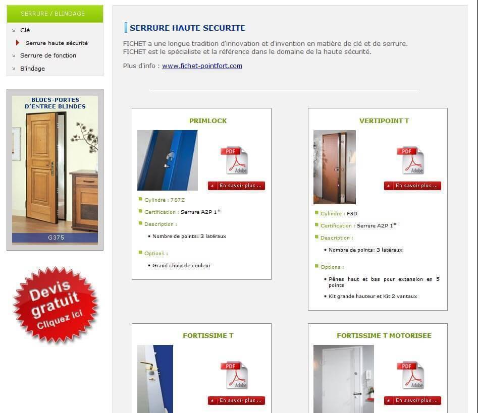 Création site internet LYON site vitrine métallerie ducrest 3