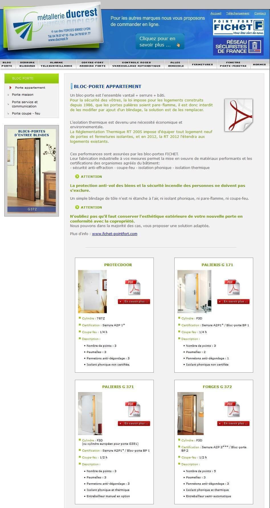 Création site internet LYON site vitrine métallerie ducrest 4
