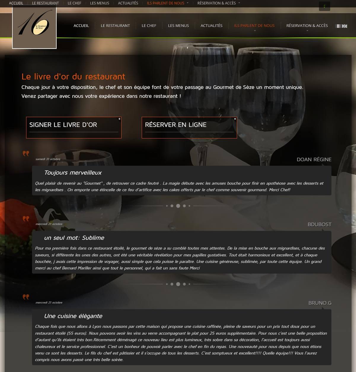 Création site internet LYON site vitrine restaurant gastronomique 4