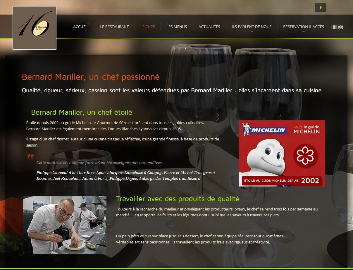 Création site internet LYON site vitrine restaurant gastronomique 5