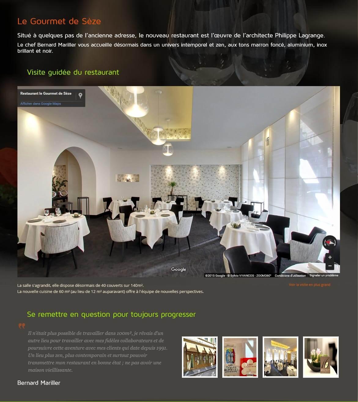 Création site internet LYON site vitrine restaurant gastronomique 6