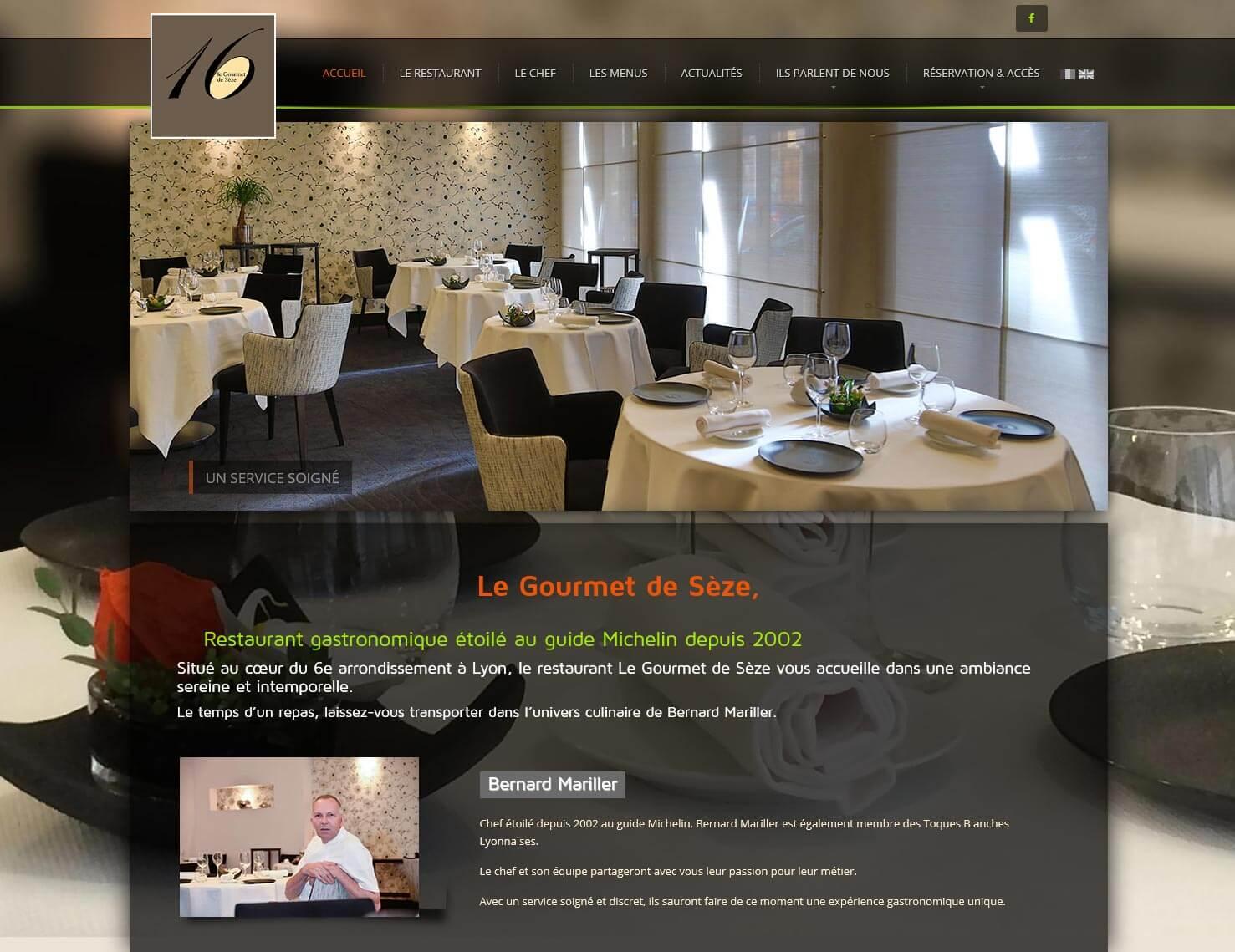 Création site internet LYON site vitrine restaurant gastronomique 7