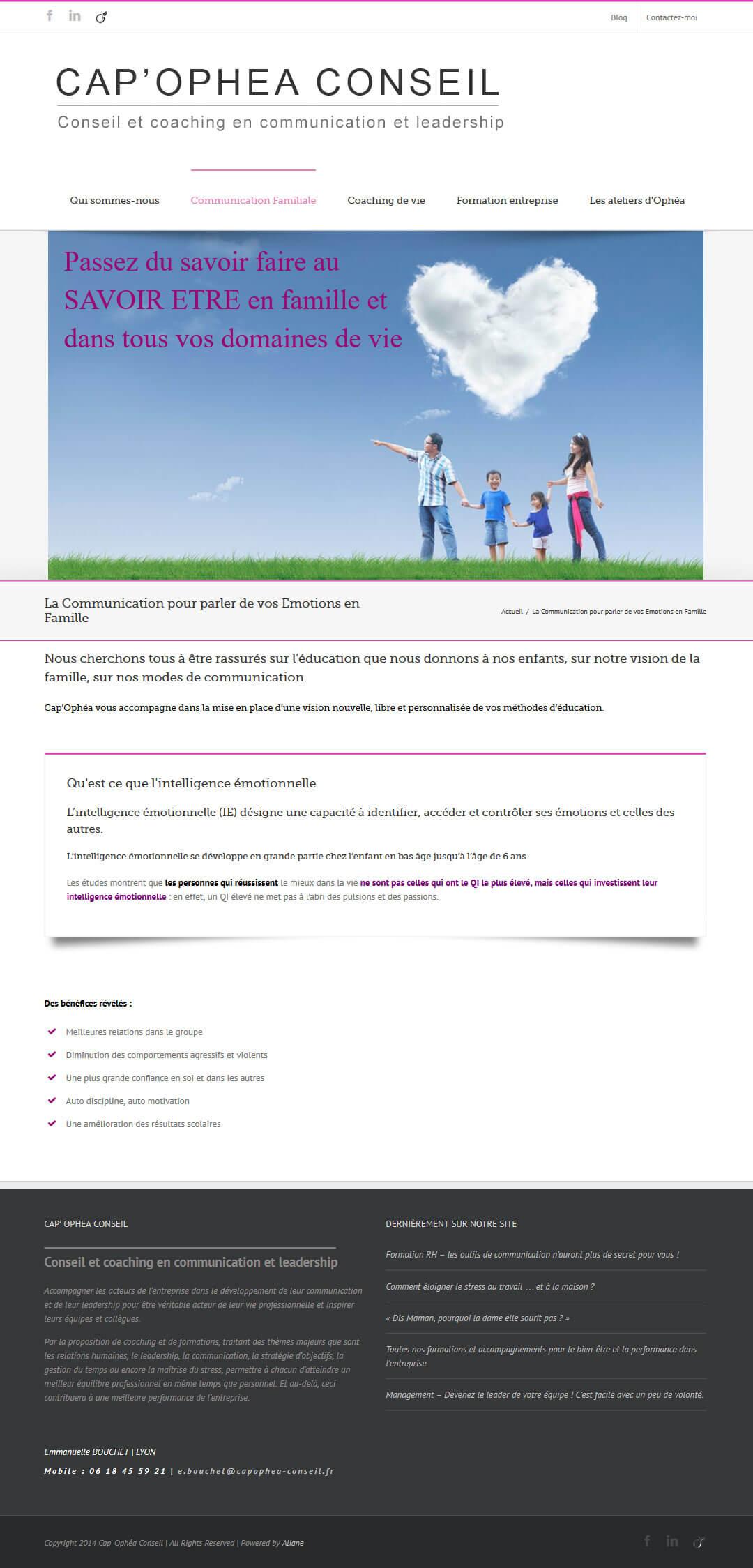 Création site internet Lyon coaching vie Lyon coach communication familiale