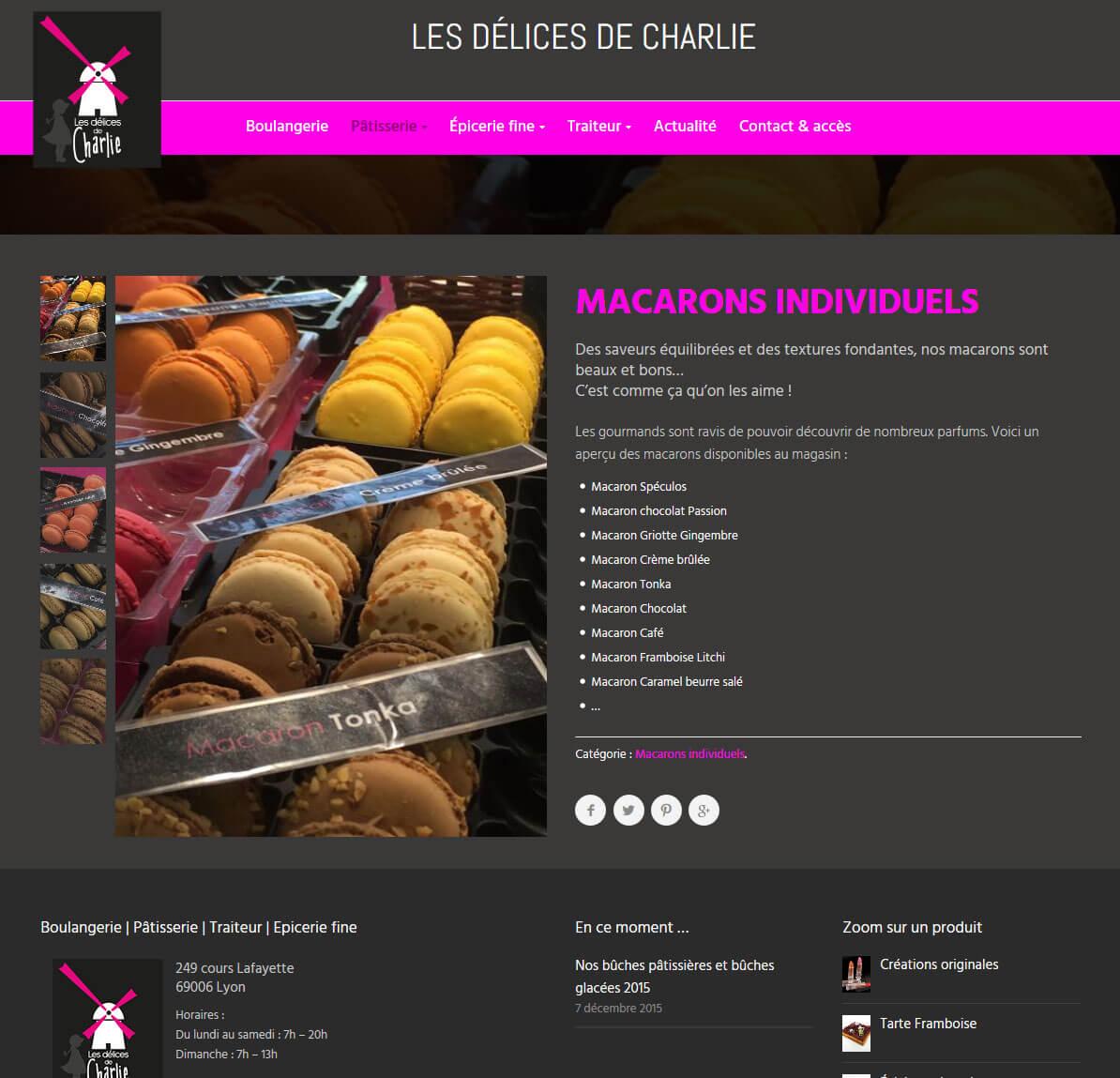 Création site internet vitrine LYON WordPress macaron