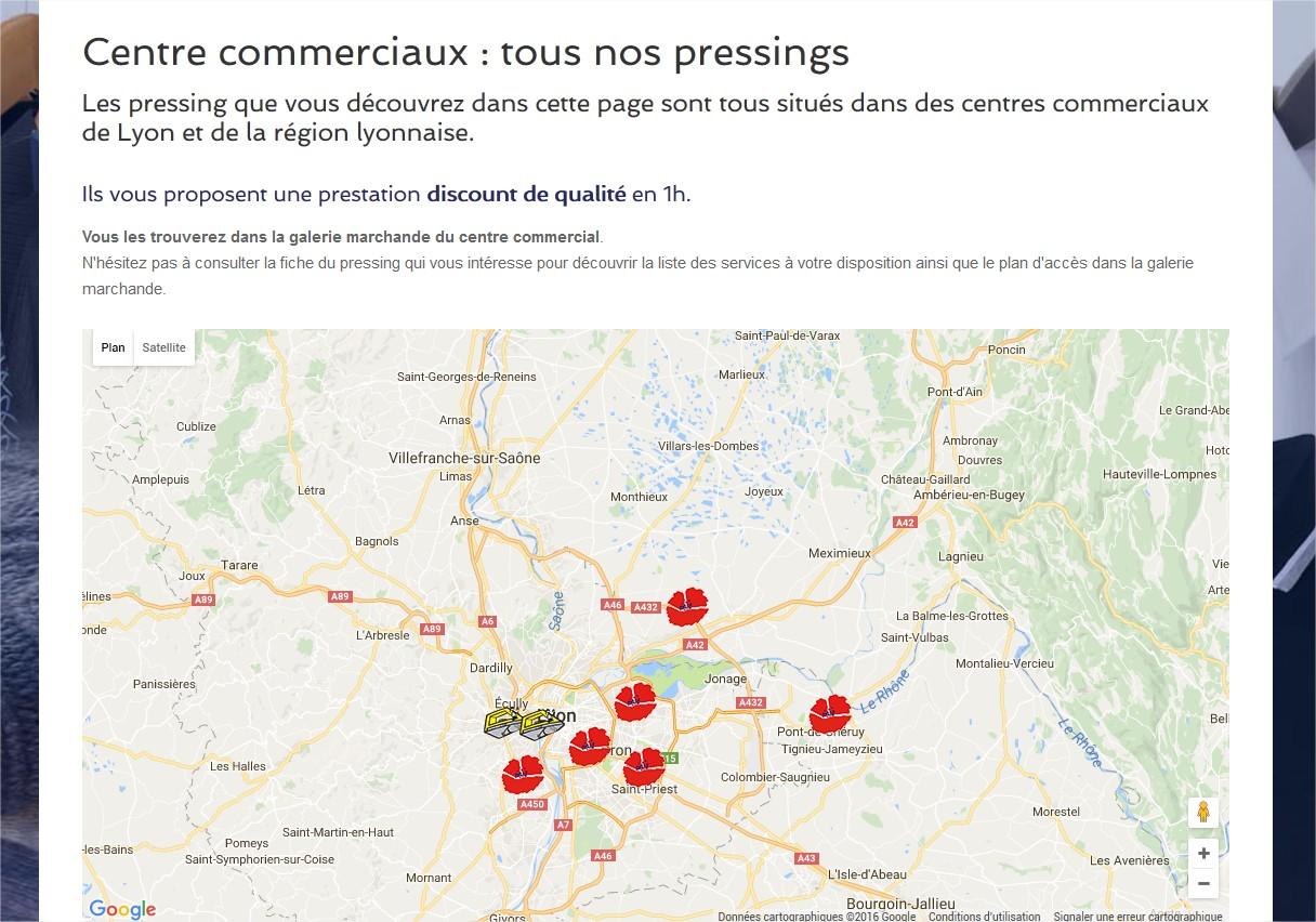 Tous les Pressings discounts en 1h de la région de Lyon